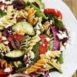 Greek Spinach Pasta Salad