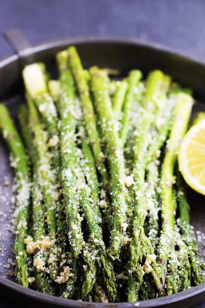 Roasted Lemon Parmesan Garlic Asparagus The Recipe Critic