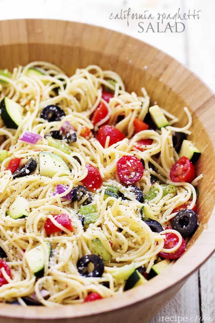 California Spaghetti Salad The Recipe Critic