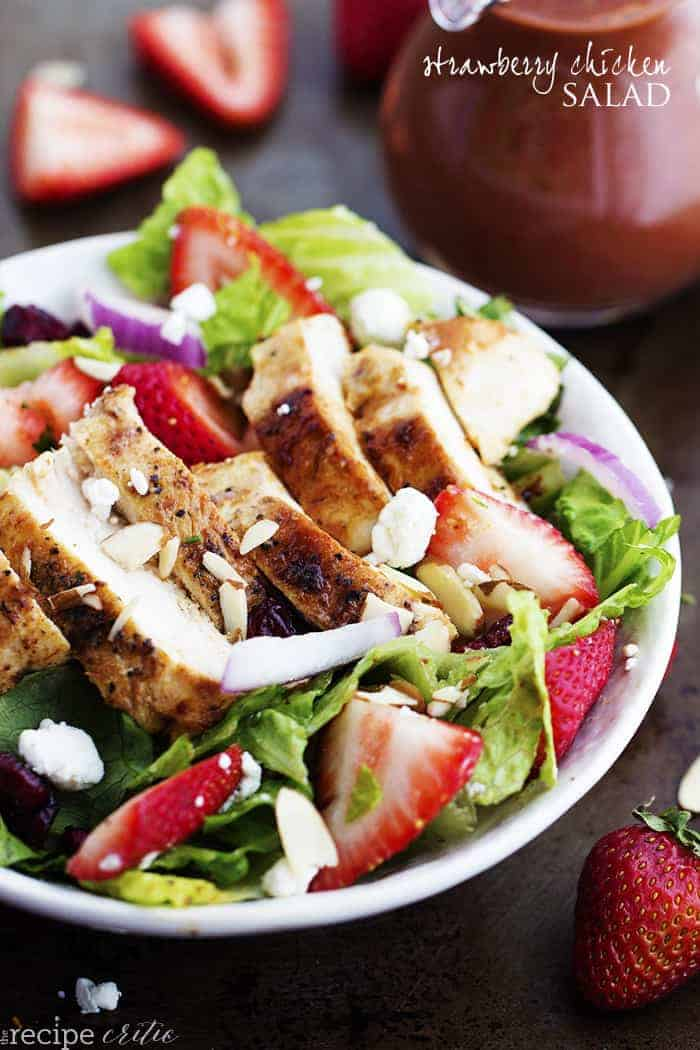Strawberry Chicken Salad with Strawberry Balsamic Dressing The