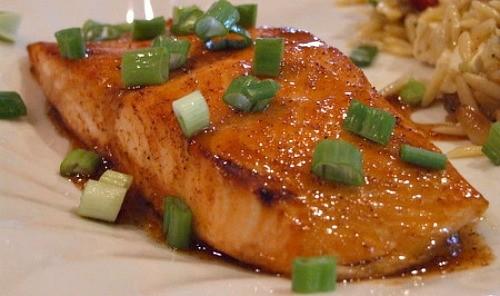 Broiled-Honey-Lime-Glazed-Salmon-Fillets