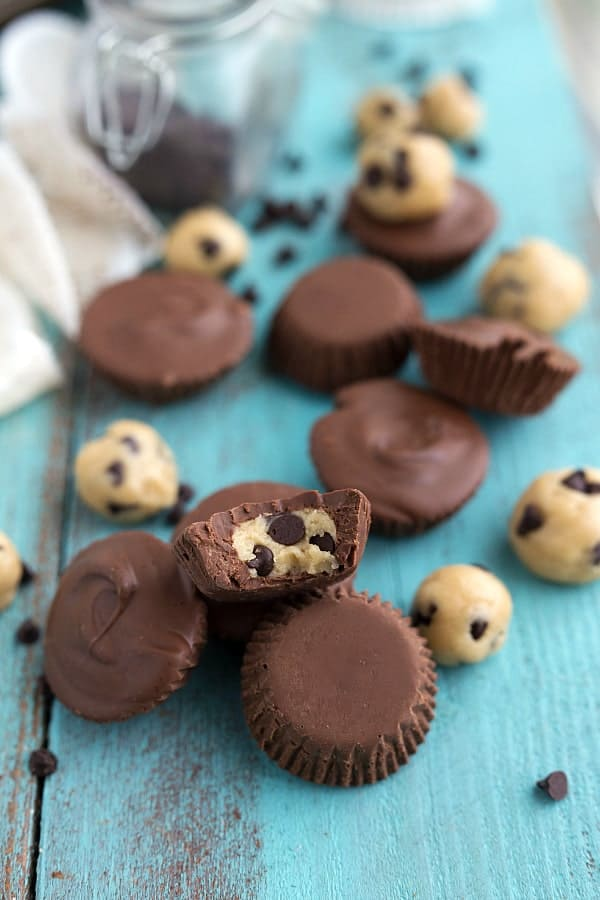No Bake Cookie Dough Chocolate Cups The Recipe Critic