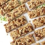 Easy almond granola bars