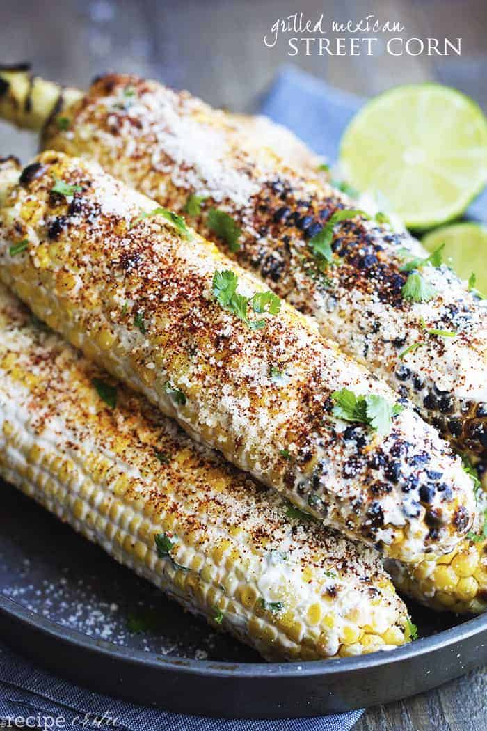 This corn gets grilled and slathered with an amazing mayonnaise blend ...