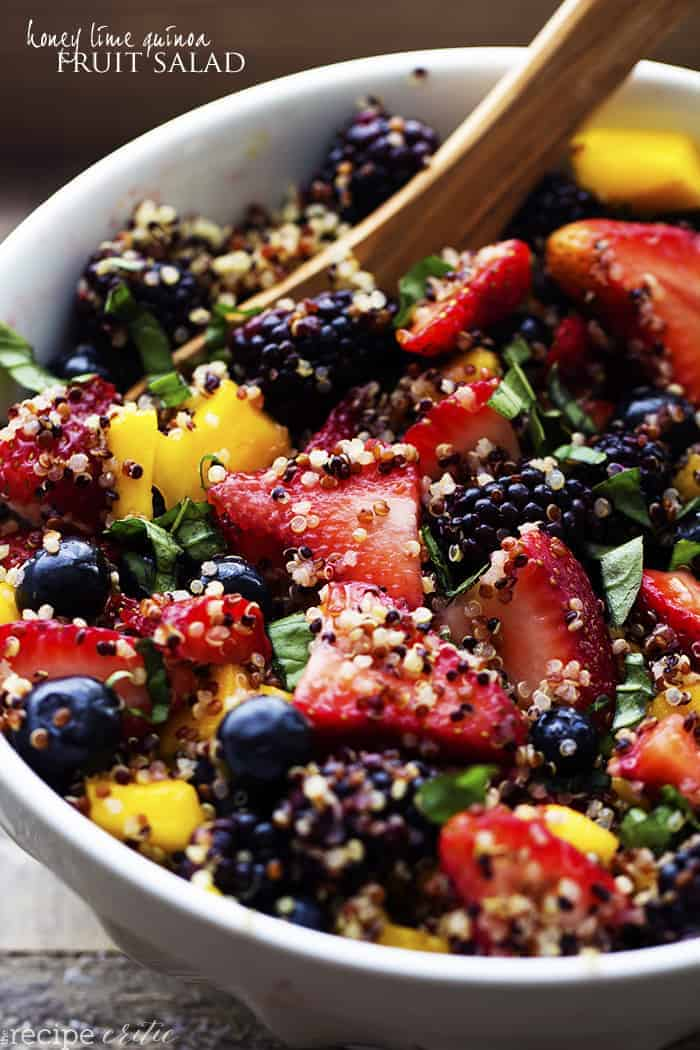 Honey Lime Quinoa Fruit Salad | The Recipe Critic