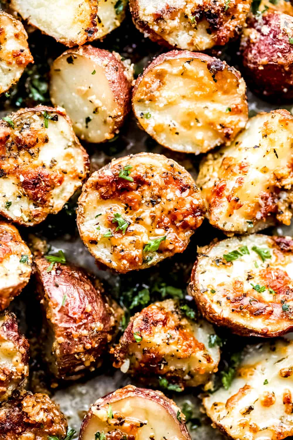 Parmesan Garlic Roasted Potatoes.