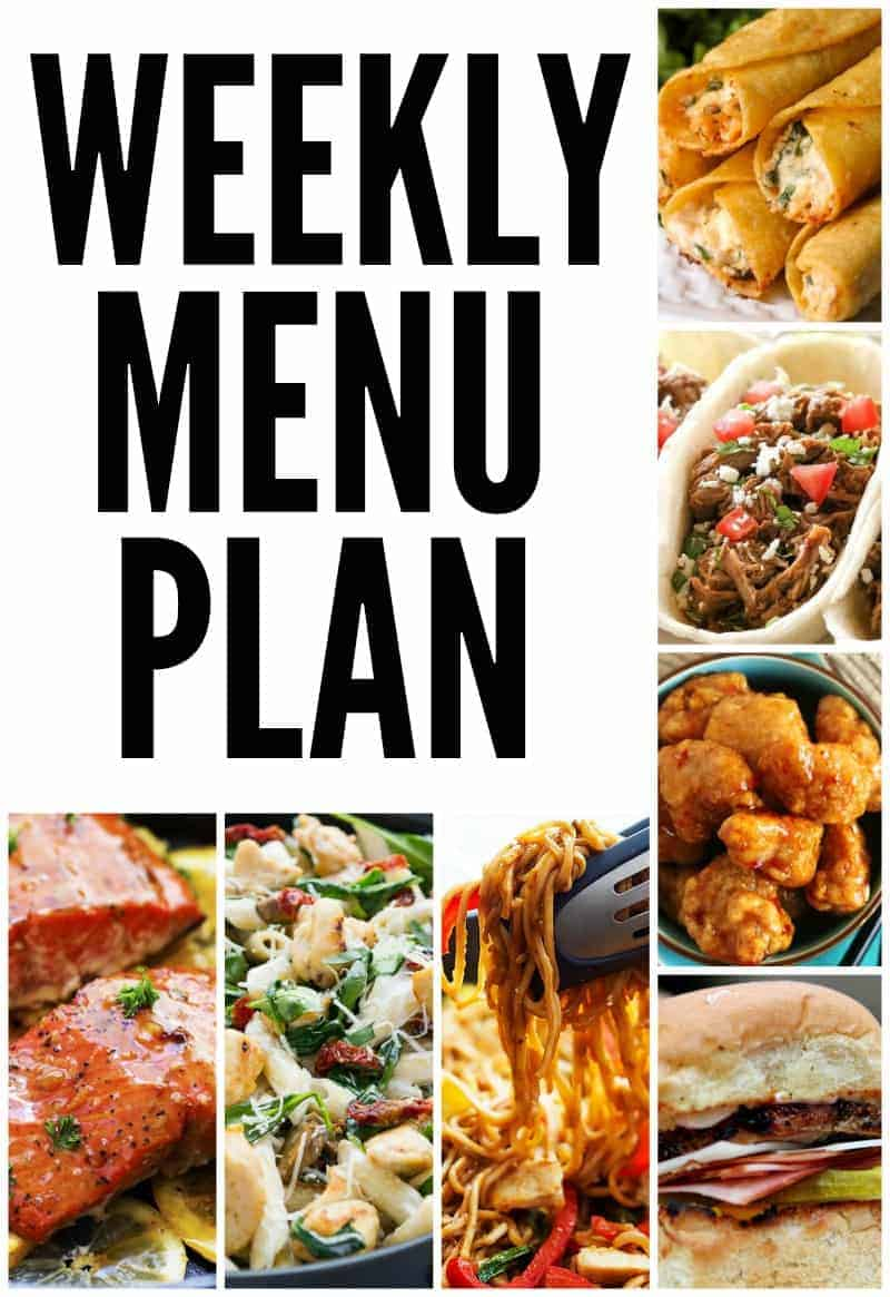 how to plan a weekly menu
