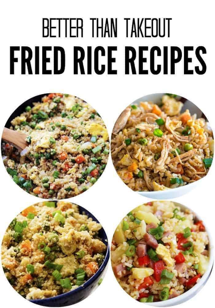 Fried rice collage.