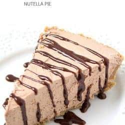 No-Bake Nutella Pie - Every part of this pie is no-bake, including the crust! So rich, creamy and decadent!