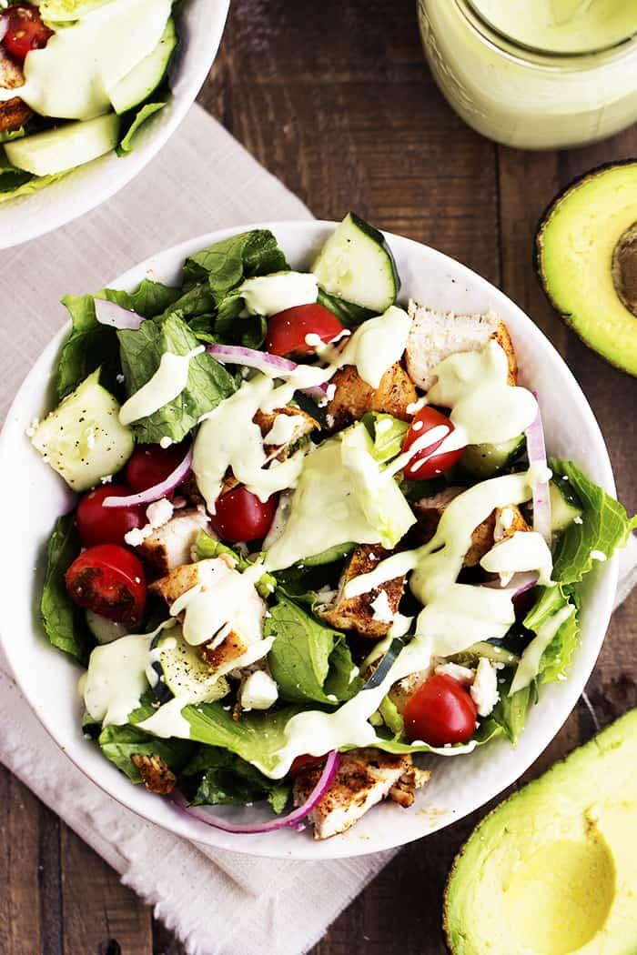 Cajun Chicken Salad with Avocado Ranch Dressing   The ...