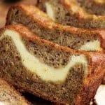 Cream Cheese Swirled Banana Zucchini Bread
