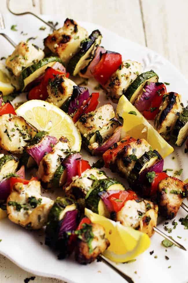 Herbed Lemon Garlic Chicken Skewers   The Recipe Critic