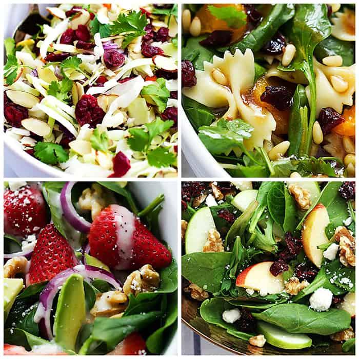 Best Salads collage.