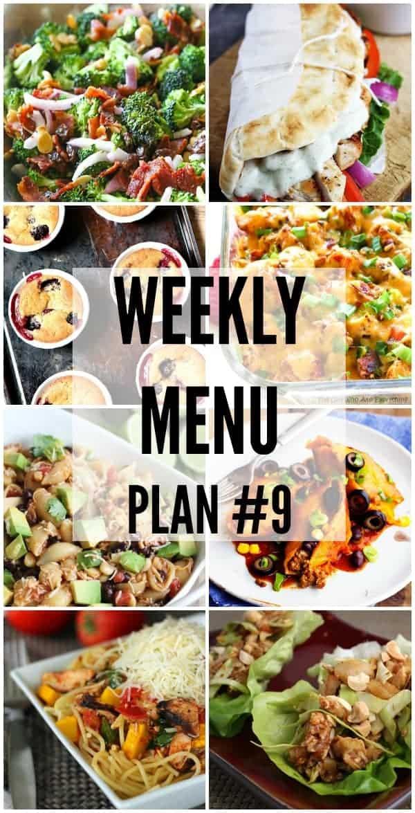 Weekly menu plan 9 the recipe critic forumfinder Gallery