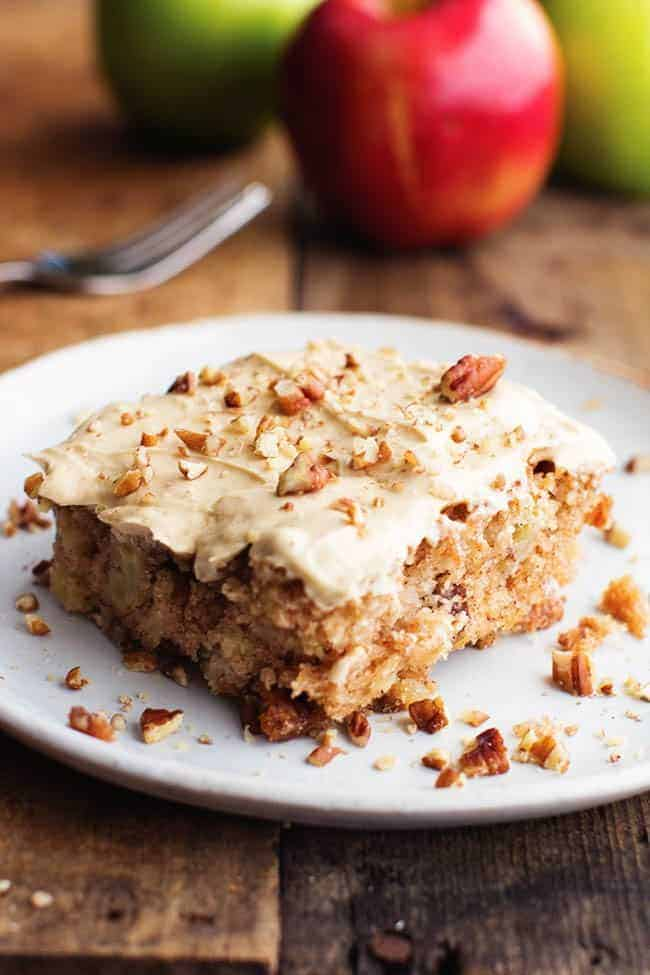 Pecan Spice Layer Cake With Cream Cheese Frosting Recipe — Dishmaps