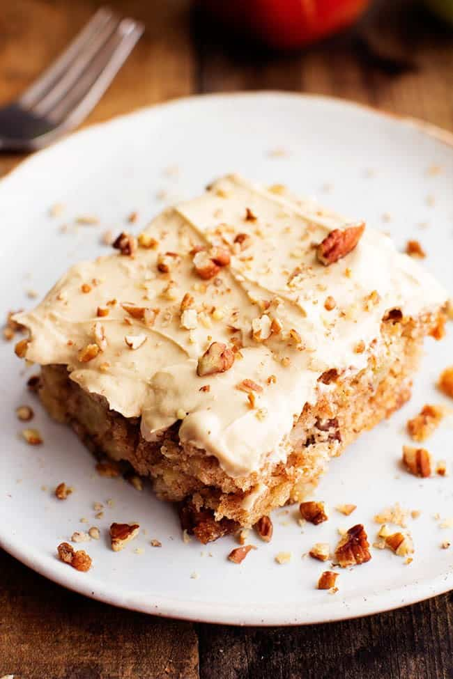 Apple Pecan Spice Cake with Brown Sugar Cream Cheese Frosting 3
