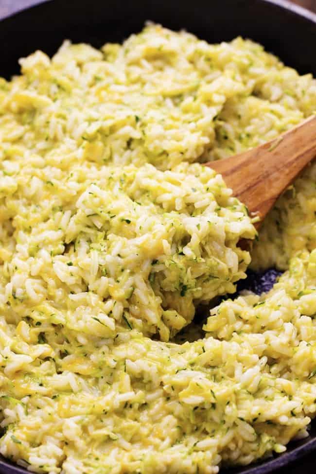 Cheesy Zucchini Rice 2