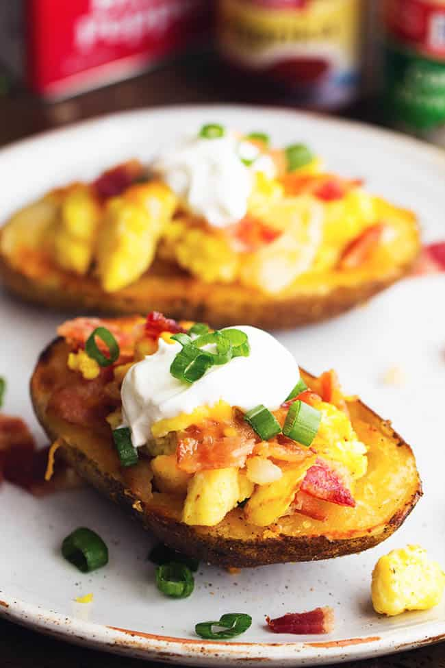 Loaded Breakfast Potato Skins | 19 Quick Breakfast Ideas