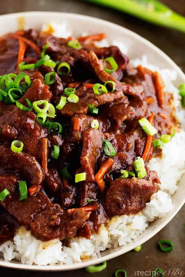 Slow cooker mongolian beef the recipe critic slow cooker mongolian beef forumfinder Image collections