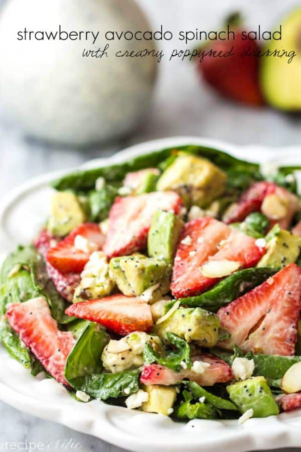 Strawberry Avocado Salad with Creamy Poppyseed Dressing