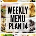 Weekly Menu Plan #14
