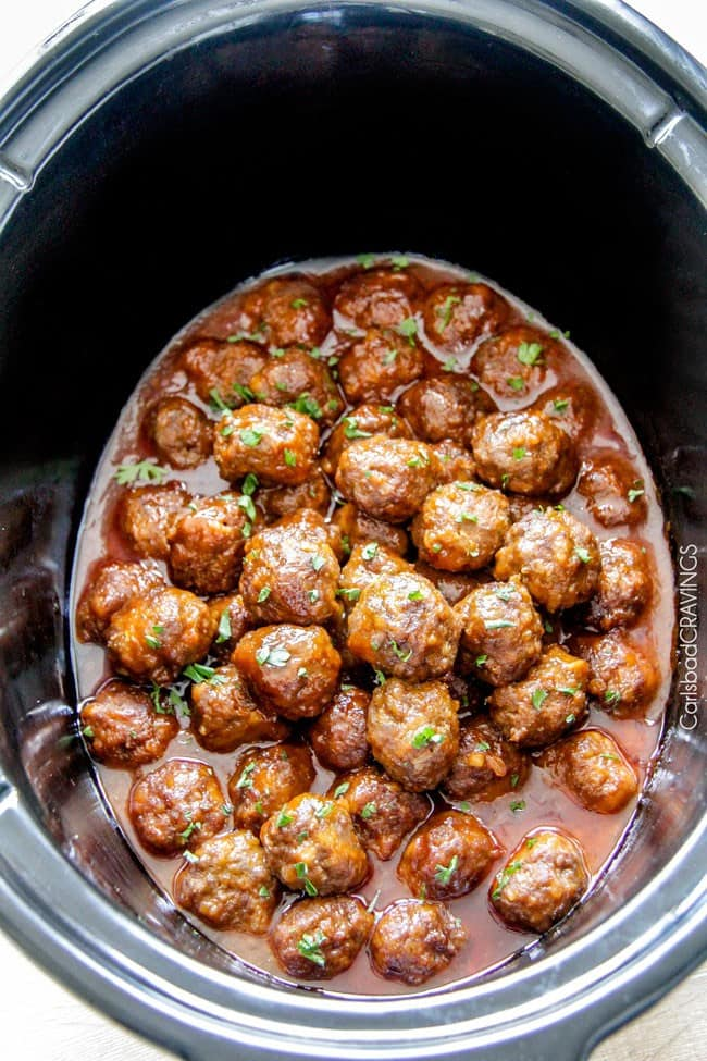 Tender juicy slow cooker honey buffalo meatballs simmered in the most