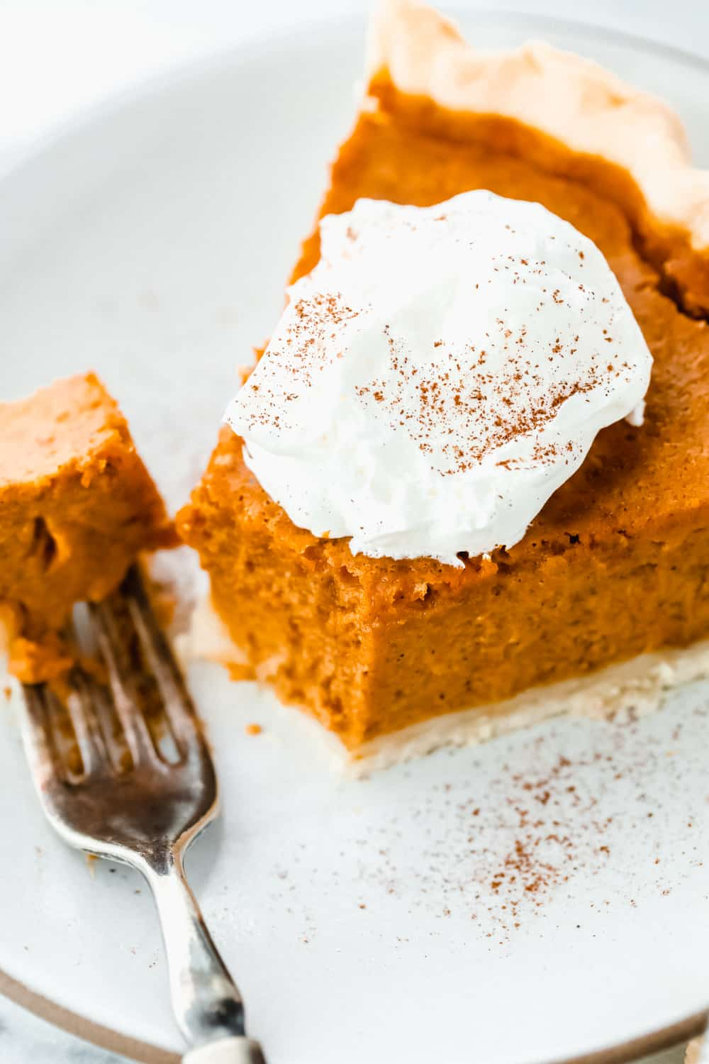 pumpkin pie sliced