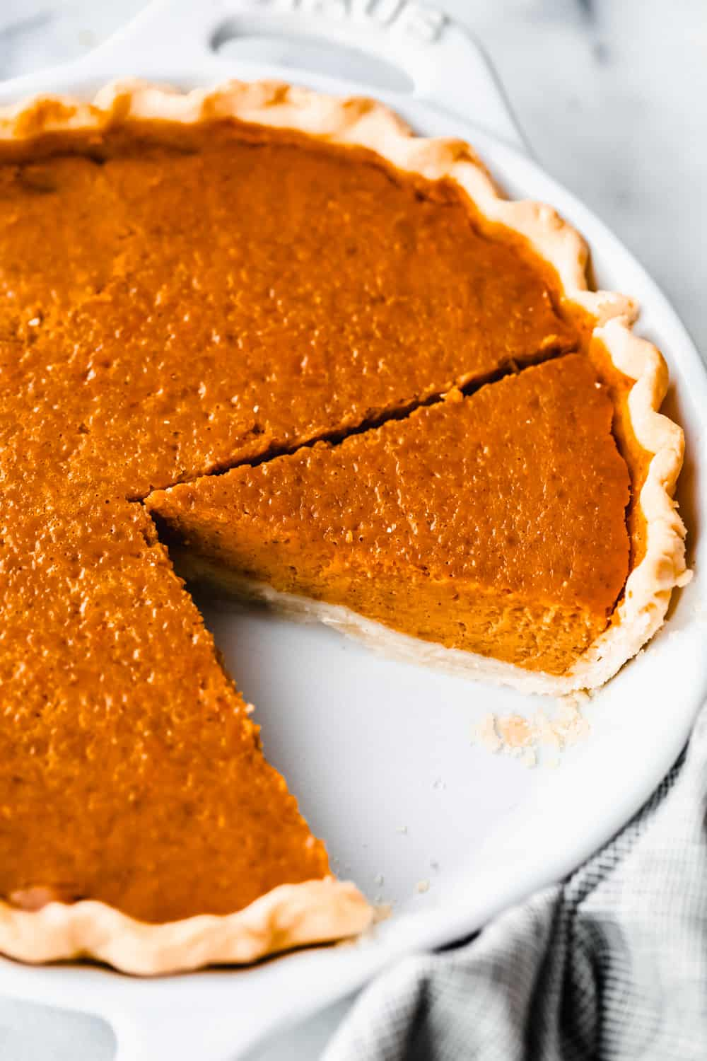 pumpkin pie baked