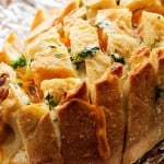 Three Cheese Garlic Pull Apart Bread