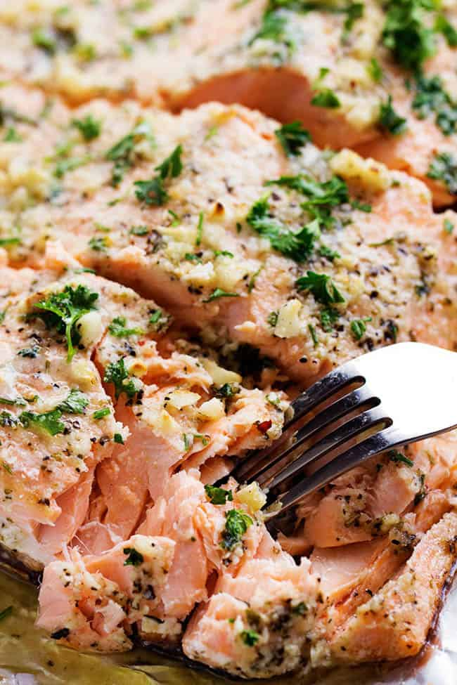 Baked parmesan garlic herb salmon in foil the recipe critic garlicsalmon3 ccuart Choice Image