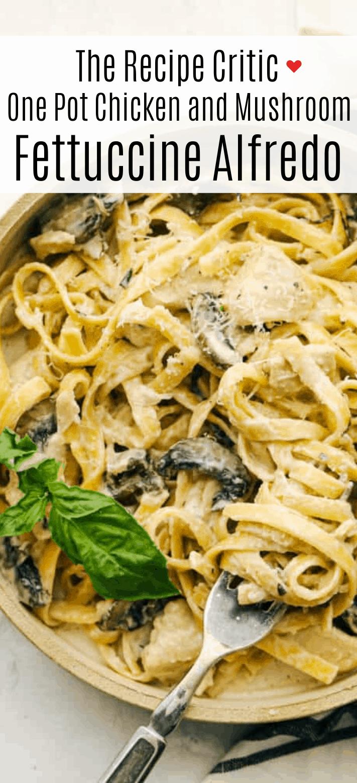 Chicken and Mushroom Fettuccine Alfredo 2