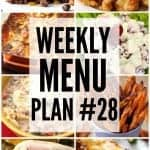 Weekly Menu Plan #28