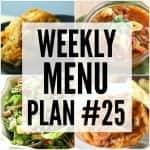 Weekly Menu Plan #25