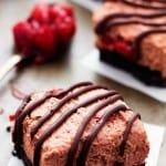 Chocolate Cherry Mousse Bars