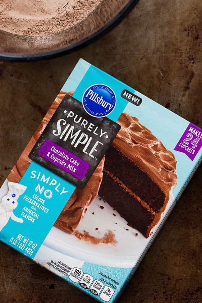 Purely simple cake mix by pillsbury.