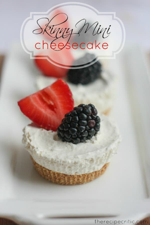 Skinny Mini Cheesecake