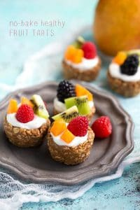 Breakfast Fruit Tarts - no bake and healthy