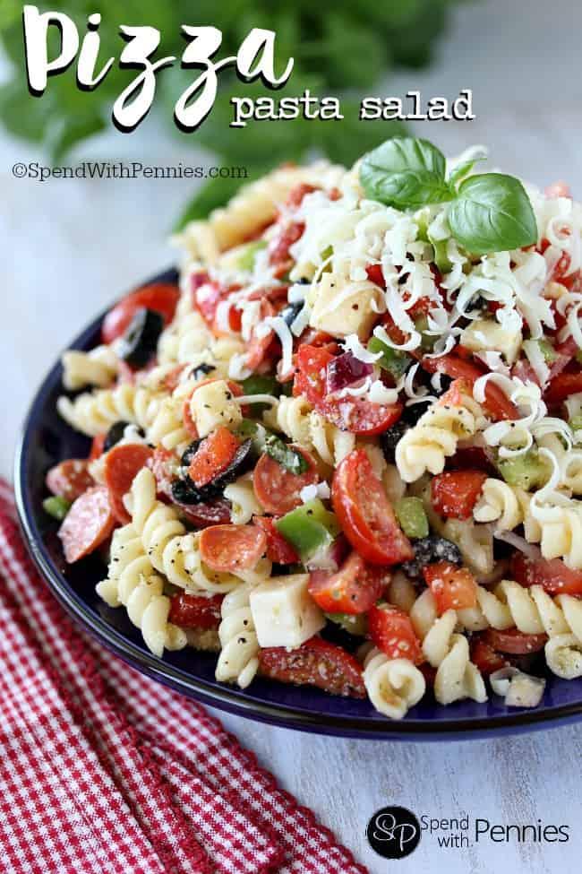 Pizza Pasta Salad - Weekly Menu Plan #33