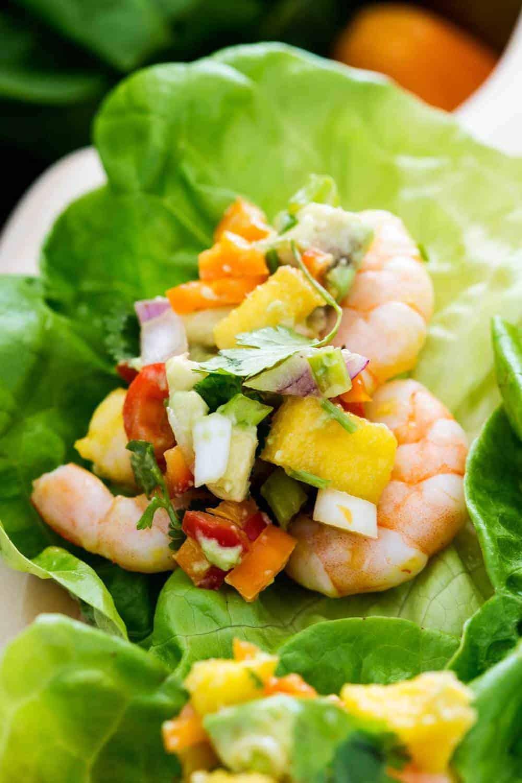 Mango Shrimp Lettuce Wraps The Recipe Critic