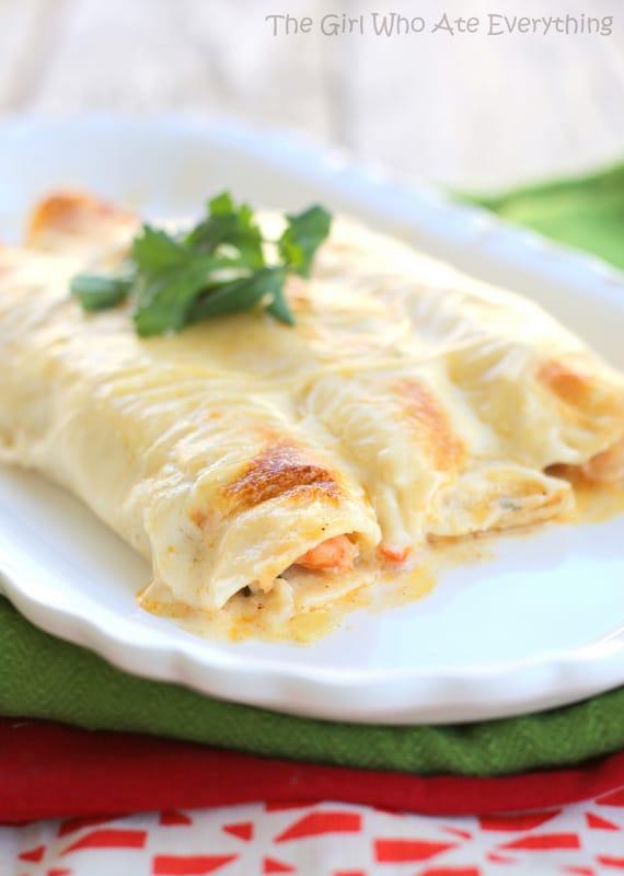 Creamy Shrimp Enchiladas - Weekly Menu Plan #33