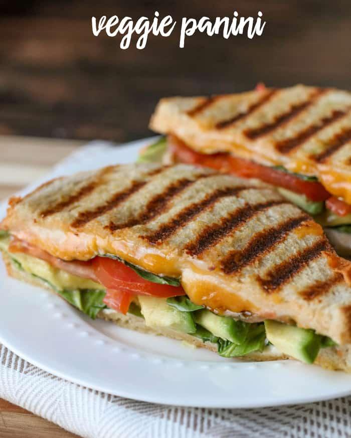 Veggie Panini - Weekly Menu Plan #33