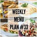 Weekly Menu Plan #33