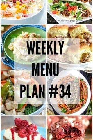Weekly Menu Plan #34