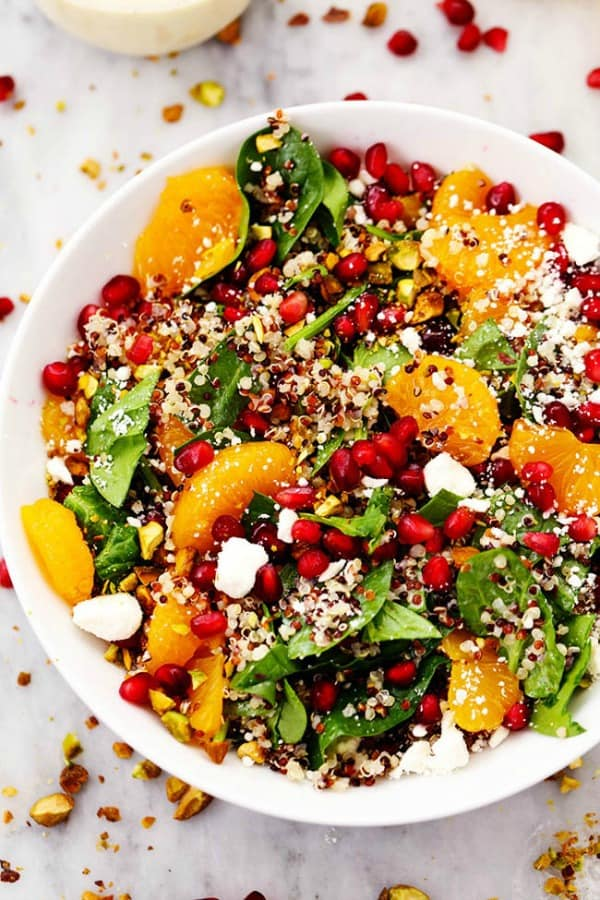 Winter Pomegranate Orange Quinoa Salad