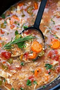 Delicious and EASY Crockpot Italian Chicken Quinoa Soup