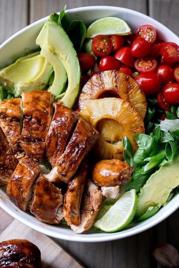 Garlic Lime Barbecue Chicken Salad