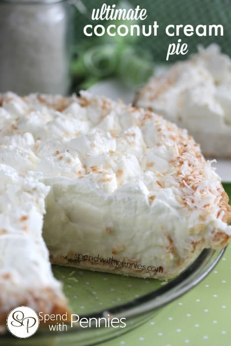 Ultimate Coconut Cream Pie - Spend with Pennies