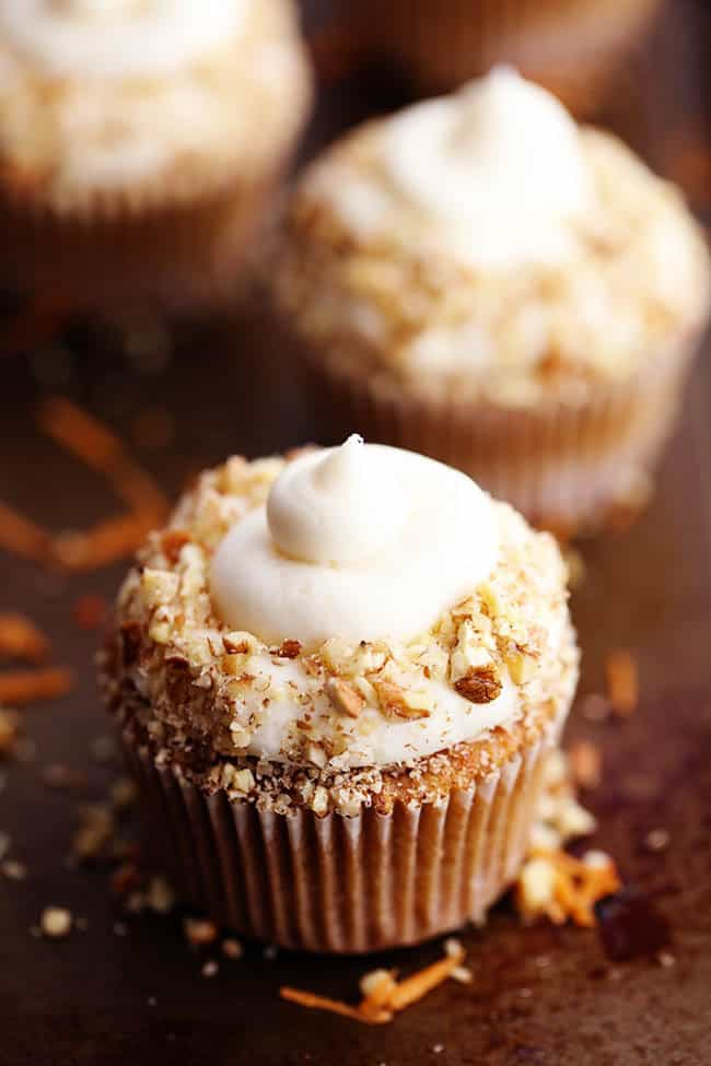Carrot Cake Cupcakes with White Chocolate Cream Cheese Frosting | The ...