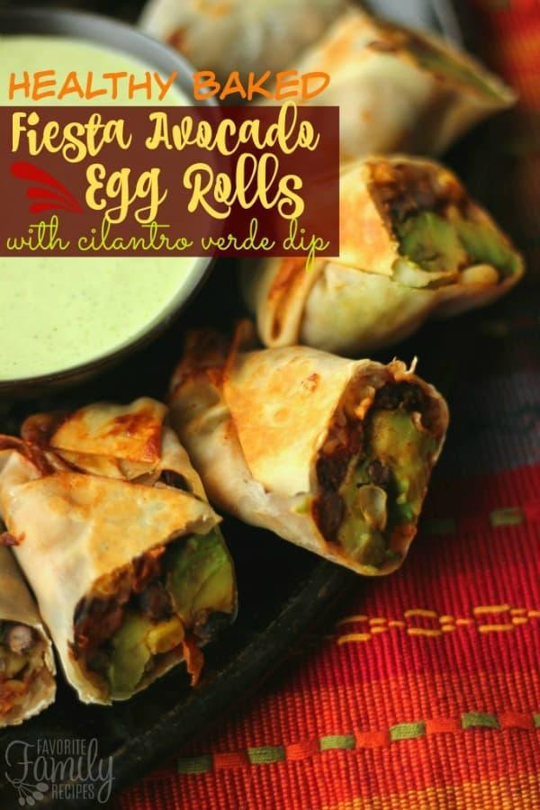 Fiesta Avocado Egg Rolls