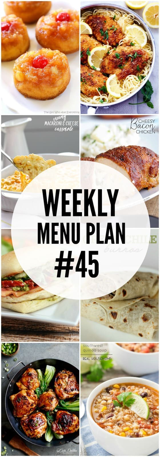 A delicious collection of recipes to help you create your weekly menu plan.